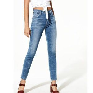 Citizens of Humanity Rocket Crop High Rise Skinny size 25 Aura Blue Jeans